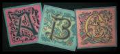 Art Nouveau Alphabet ABA6002