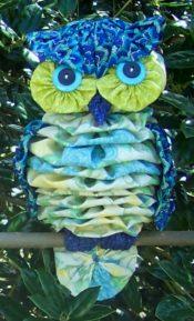 Owl yo-yo quilting pattern