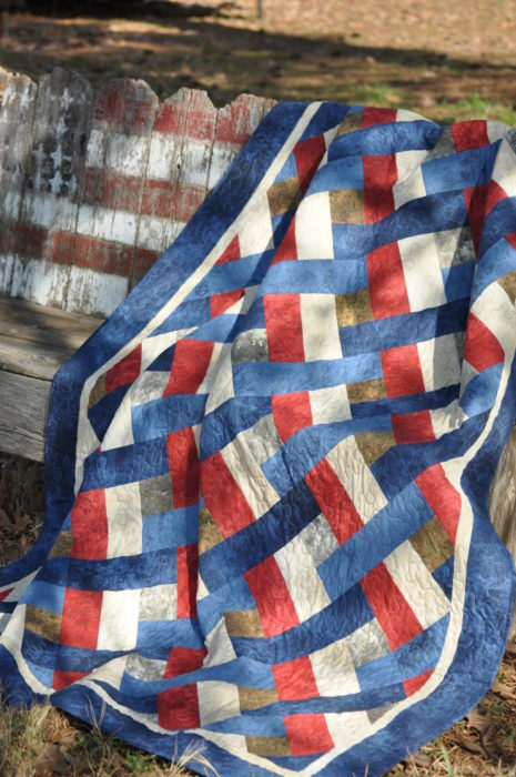 Liberty Quilt -- a pieced quilt in 6 sizes.