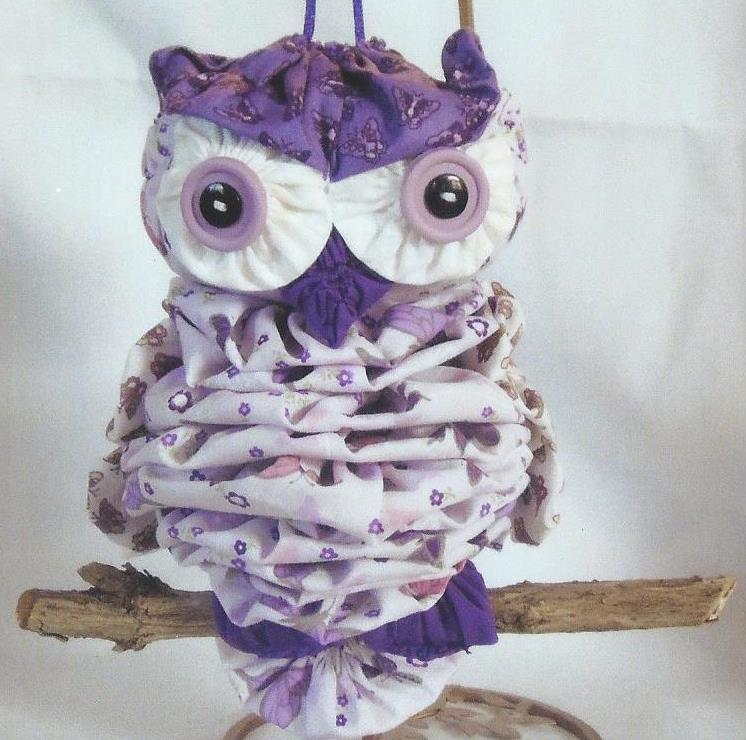 Purple and White Owl